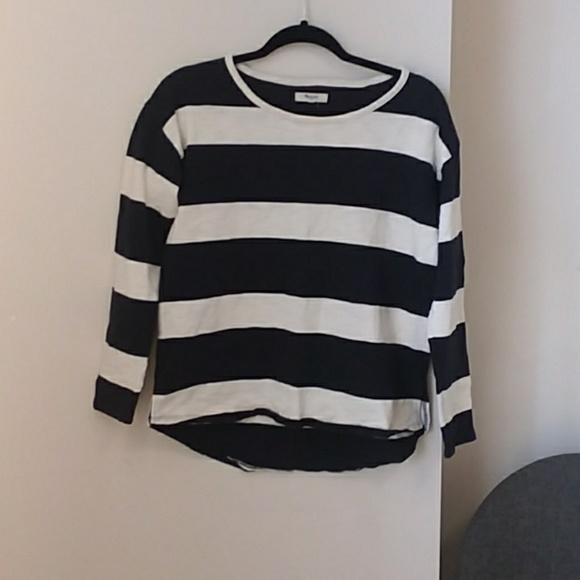 73e7017633 Madewell Tops - Madewell | Black and White Striped Shirt